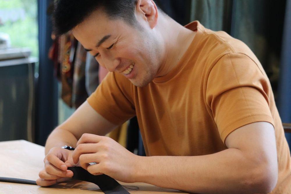 ワークショップ 運針手縫い 男性