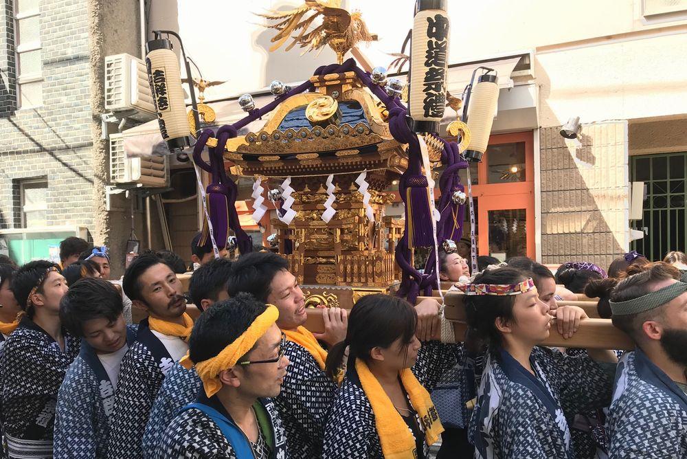 吉祥寺の仕立て屋で開催のワークショップ 中道祭礼のお神輿