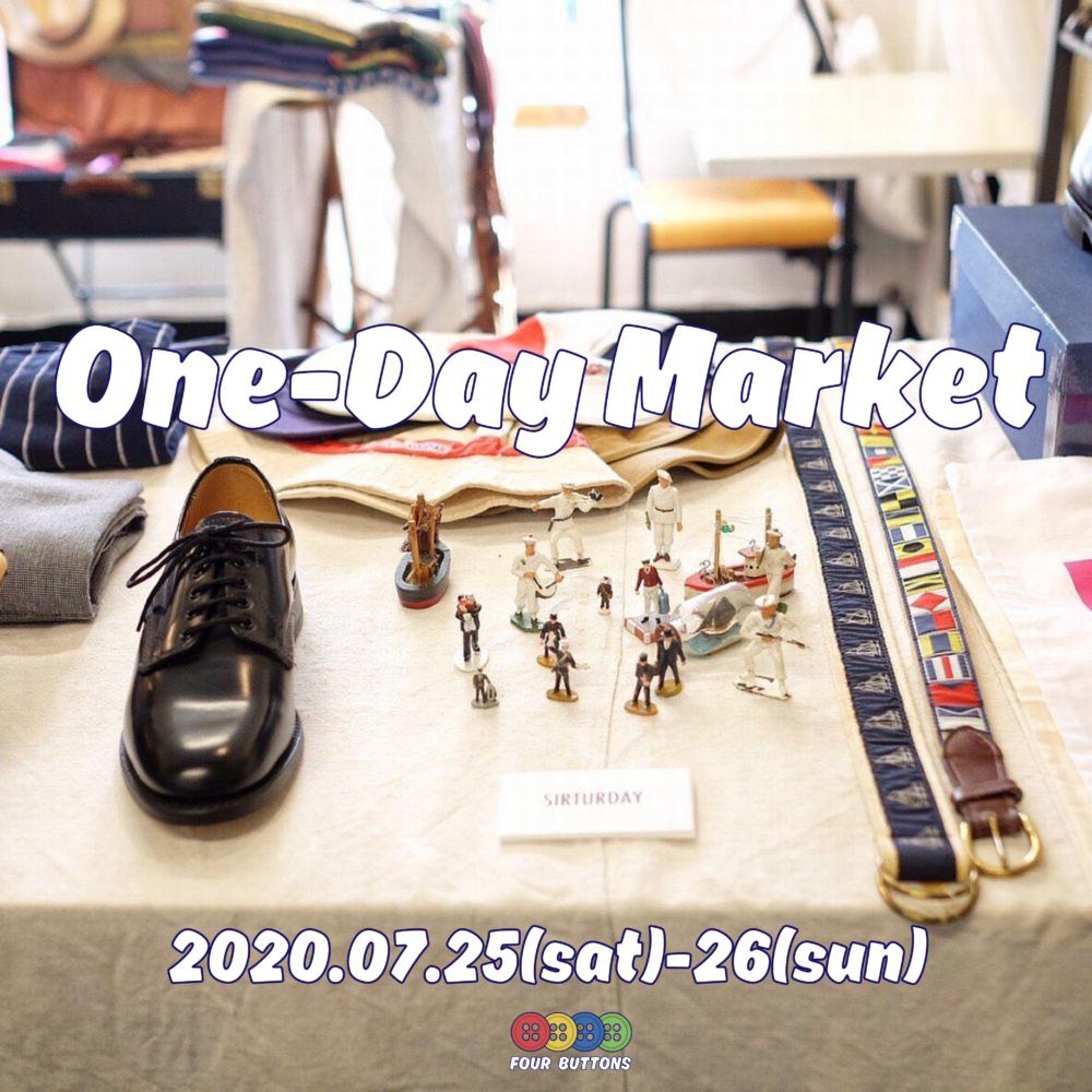 7月25日(土)、26日(日)One-Day Market 開催のお知らせ