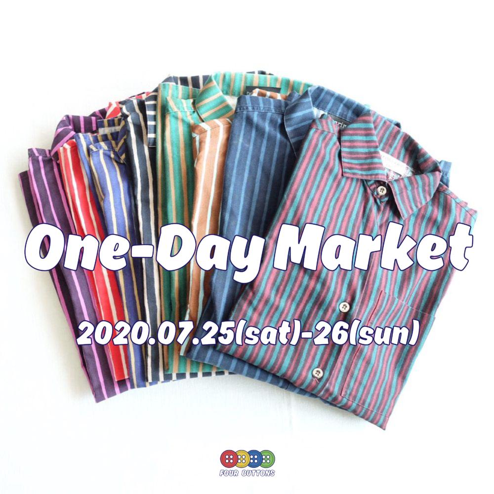 明日、明後日 One-Day Market 開催のお知らせ。